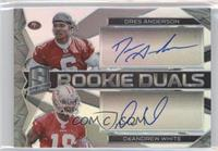 Rookie Dual Autographs - DeAndrew White, Dres Anderson /199