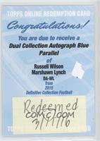 Russell Wilson, Marshawn Lynch /10 [REDEMPTIONBeingRedeemed]