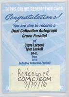 Steve Largent, Tyler Lockett /25 [REDEMPTION Being Redeemed]
