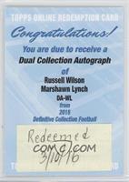Russell Wilson, Marshawn Lynch [REDEMPTIONBeingRedeemed]