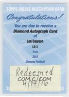 Len Dawson /10 [REDEMPTION Being Redeemed]