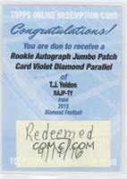 T.J. Yeldon /25 [REDEMPTION Being Redeemed]