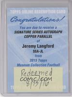 Jeremy Langford /50 [REDEMPTION Being Redeemed]