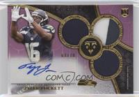 Rookie Autographed Triple Relics - Tyler Lockett /70