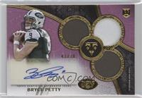 Rookie Autographed Triple Relics - Bryce Petty /70
