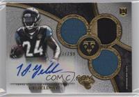 Rookie Autographed Triple Relics - T.J. Yeldon /99