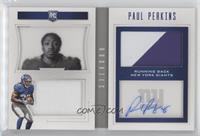 Rookie Playbook Jersey Autographs - Paul Perkins /49