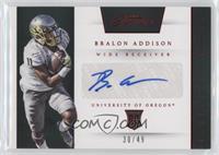 Prime Prospects Signatures - Bralon Addison /49