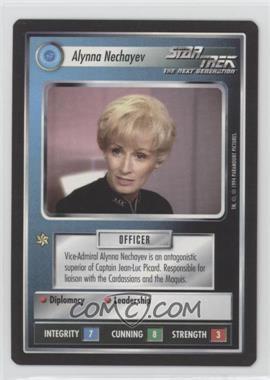1994 Star Trek Customizable Card Game: 1st Edition Premiere Black Border Expansion Set [Base] #NoN - Alynna Nechayev
