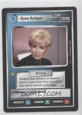 1994 Star Trek Customizable Card Game: 1st Edition Premiere Black Border Expansion Set [Base] #NoN - Alynna Nechayev