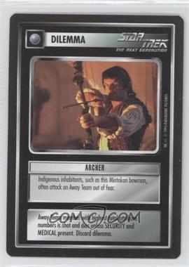 1994 Star Trek Customizable Card Game: 1st Edition Premiere Black Border Expansion Set [Base] #NoN - Archer