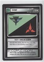 Treaty: Romulan/Klingon