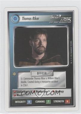 1995 Star Trek Customizable Card Game: 1st Edition Premiere White Bordered Expansion Set [Base] #NoN - Thomas Riker
