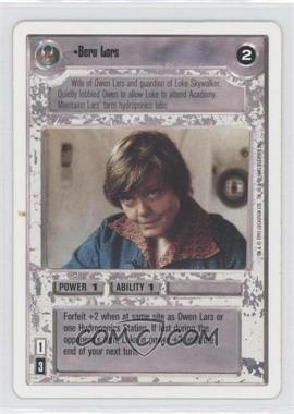 1995 Star Wars Customizable Card Game: Premiere - Expansion Set [Base] - Unlimited White Border #NoN - Beru Lars