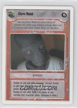 1995 Star Wars Customizable Card Game: Premiere - Expansion Set [Base] - Unlimited White Border #NoN - Ellorrs Madak