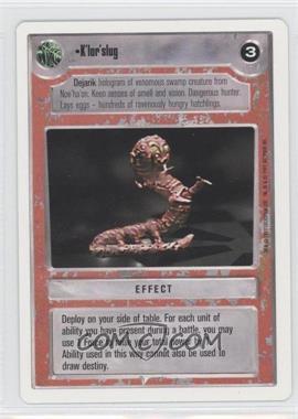 1995 Star Wars Customizable Card Game: Premiere - Expansion Set [Base] - Unlimited White Border #NoN - K'lor'slug