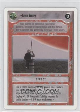 1995 Star Wars Customizable Card Game: Premiere - Expansion Set [Base] - Unlimited White Border #NoN - Yavin Sentry
