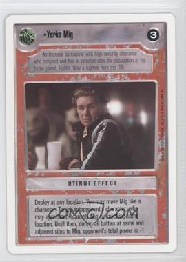 1995 Star Wars Customizable Card Game: Premiere - Expansion Set [Base] - Unlimited White Border #NoN - Yerka Mig