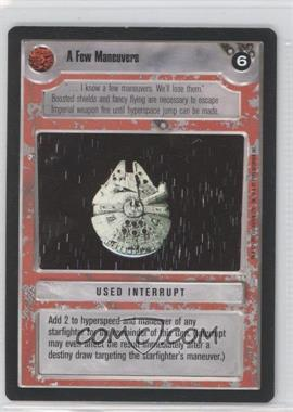 1995 Star Wars Customizable Card Game: Premiere - Expansion Set [Base] #NoN - A Few Maneuvers