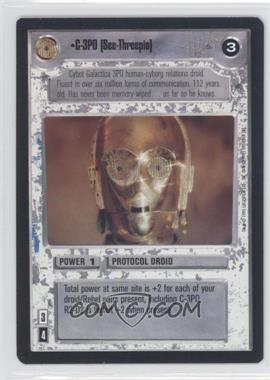 1995 Star Wars Customizable Card Game: Premiere - Expansion Set [Base] #NoN - C-3PO [See-Threepio]