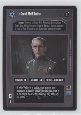 1995 Star Wars Customizable Card Game: Premiere - Expansion Set [Base] #NoN - Grand Moff Tarkin