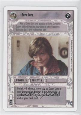 1995 Star Wars Customizable Card Game: Premiere Expansion Set [Base] Unlimited White Border #NoN - Beru Lars