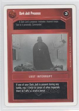 1995 Star Wars Customizable Card Game Premiere Expansion Set [Base] Unlimited White Border #NoN - Dark Jedi Presence