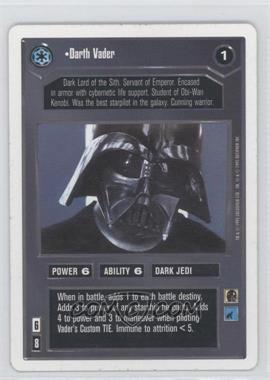 1995 Star Wars Customizable Card Game Premiere Expansion Set [Base] Unlimited White Border #NoN - Darth Vader