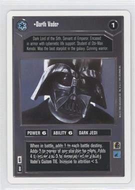 1995 Star Wars Customizable Card Game: Premiere Expansion Set [Base] Unlimited White Border #NoN - Darth Vader
