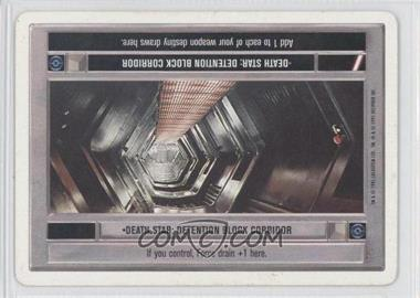 1995 Star Wars Customizable Card Game Premiere Expansion Set [Base] Unlimited White Border #NoN - Death Star: Detention Block Corridor