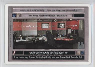 1995 Star Wars Customizable Card Game: Premiere Expansion Set [Base] Unlimited White Border #NoN - Death Star: Docking Control Room 327