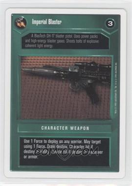 1995 Star Wars Customizable Card Game: Premiere Expansion Set [Base] Unlimited White Border #NoN - Imperial Blaster