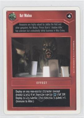 1995 Star Wars Customizable Card Game Premiere Expansion Set [Base] Unlimited White Border #NoN - Ket Maliss