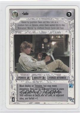 1995 Star Wars Customizable Card Game Premiere Expansion Set [Base] Unlimited White Border #NoN - Luke