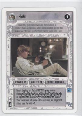1995 Star Wars Customizable Card Game Premiere Expansion Set [Base] Unlimited White Border #NoN - Luke