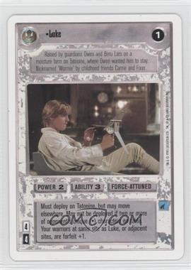 1995 Star Wars Customizable Card Game: Premiere Expansion Set [Base] Unlimited White Border #NoN - Luke