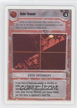 1995 Star Wars Customizable Card Game: Premiere Expansion Set [Base] Unlimited White Border #NoN - Radar Scanner