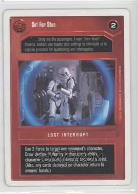 1995 Star Wars Customizable Card Game: Premiere Expansion Set [Base] Unlimited White Border #NoN - Set for Stun