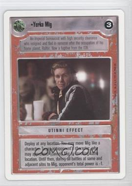 1995 Star Wars Customizable Card Game: Premiere Expansion Set [Base] Unlimited White Border #NoN - Yerka Mig