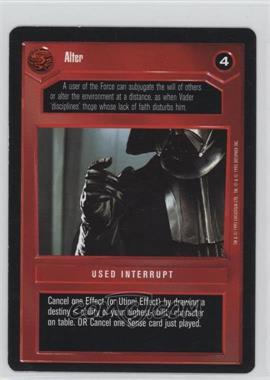 1995 Star Wars Customizable Card Game: Premiere Expansion Set [Base] #NoN - Alter (Dark)