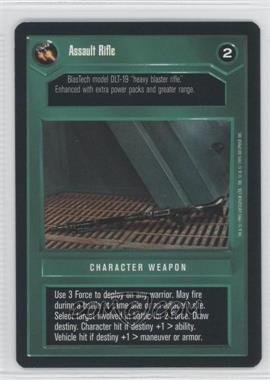 1995 Star Wars Customizable Card Game: Premiere Expansion Set [Base] #NoN - Assault Rifle