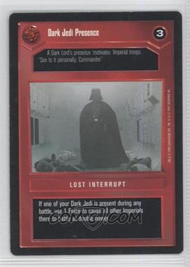 1995 Star Wars Customizable Card Game: Premiere Expansion Set [Base] #NoN - Dark Jedi Presence