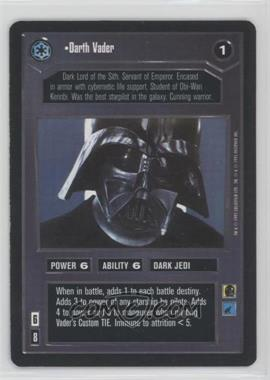 1995 Star Wars Customizable Card Game: Premiere Expansion Set [Base] #NoN - Darth Vader