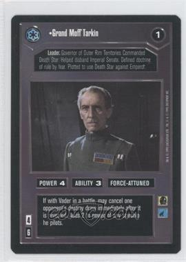 1995 Star Wars Customizable Card Game: Premiere Expansion Set [Base] #NoN - Grand Moff Tarkin