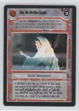 1995 Star Wars Customizable Card Game: Premiere Expansion Set [Base] #NoN - Help Me Obi-Wan Kenobi