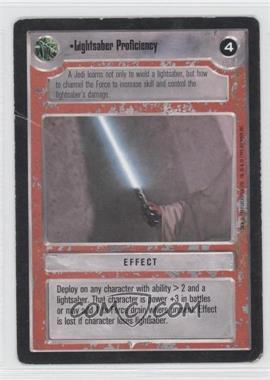 1995 Star Wars Customizable Card Game: Premiere Expansion Set [Base] #NoN - Lightsaber Proficiency