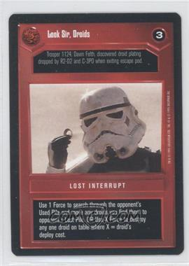 1995 Star Wars Customizable Card Game: Premiere Expansion Set [Base] #NoN - Look Sir, Droids