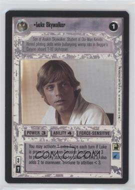 1995 Star Wars Customizable Card Game: Premiere Expansion Set [Base] #NoN - Luke Skywalker