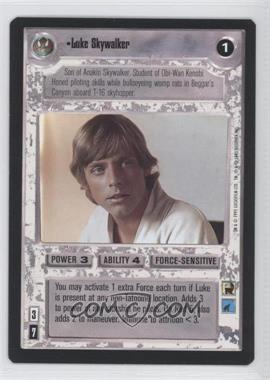 1995 Star Wars Customizable Card Game: Premiere Expansion Set [Base] #NoN - Luke Skywalker