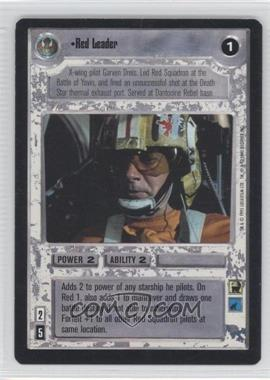 1995 Star Wars Customizable Card Game: Premiere Expansion Set [Base] #NoN - Red Leader